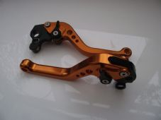 KTM 640 2002-2006, CNC levers set short orange alloy & black adjusters DB12/C31
